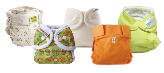 Kushies, Bummis, Mother-ease, G-Diaper, GroVia,