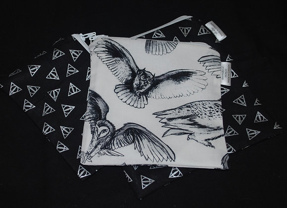 Black & White With Owls 3 Pack