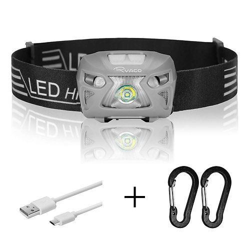 RYACO Head Torch, Headlight Headlamp Led Rechargeable with 8 Modes