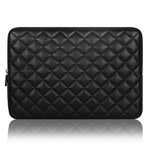 Arvok Laptop Sleeve PC Diamond Foam Splash PU Leather Sleeve Case Travel Bag