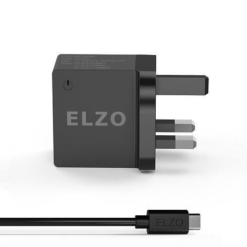 Elzo Quick Charge 2.0 18W USB Wall Charger (UK)