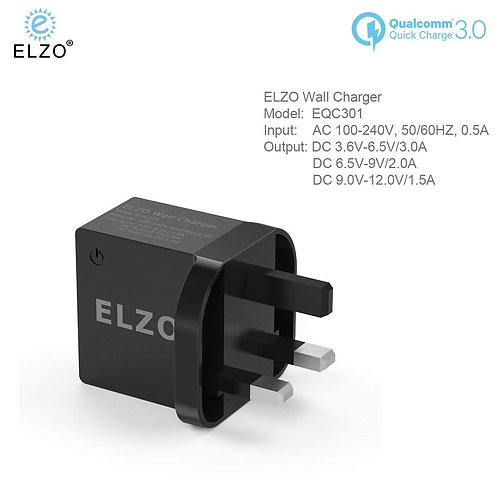 Elzo Quick Charge 3.0 Wall Charger (UK)