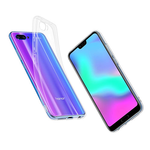 ELZO Case Compitable for Huawei Honor 10, [Crystal] Clear Ultra Thin Slim TPU Ce