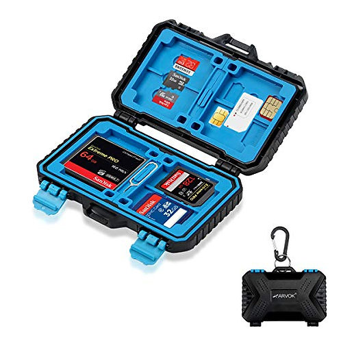 Arvok Memory Card Case, Computer Camera Media Storage organization for Travel
