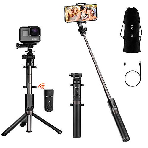 ELZO Selfie Stick, Extendable Bluetooth Phone Tripod