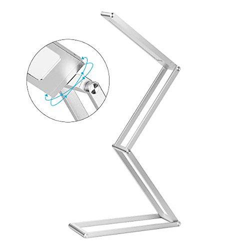 Elzo LED Desk Lamp, Foldable Portable Wireless USB Rechargeable Table Lamp