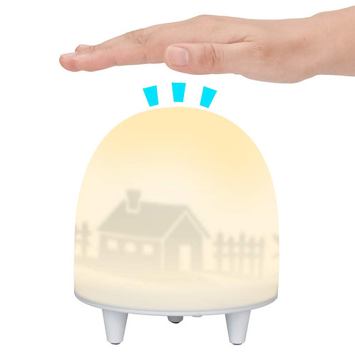 ELZO LED Rechargeable Night Light for Kids with Touch Sensor