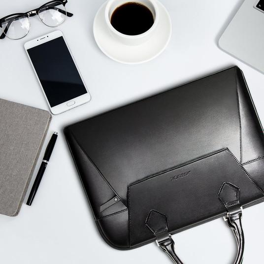 Arvok PU Leather Laptop Bag