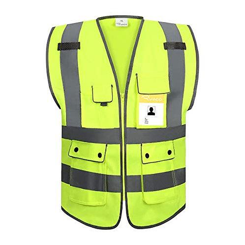 RYACO Reflective Vest, High Visibility ANSI Class 2 Safety Vest with Reflective