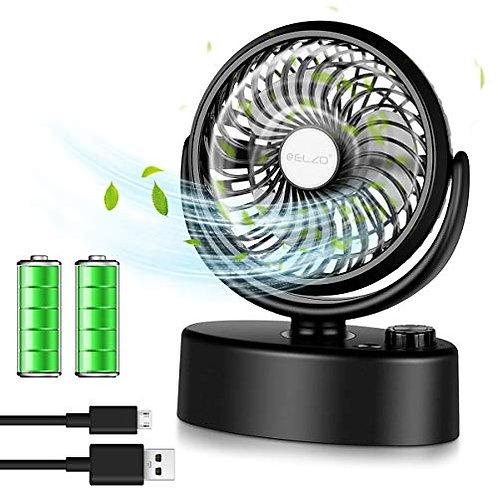 ELZO USB Fan, Mini Silent Electric Fan, Desk Fan Powered by USB