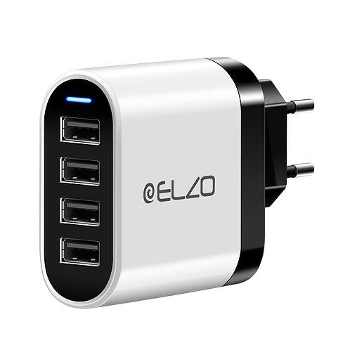 ELZO 32W 6.4A 4-Port USB Wall Charger (EU)