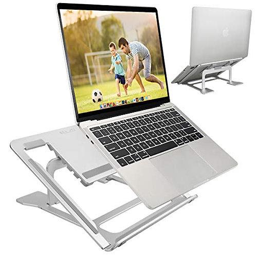 ELZO Laptop Stand, Adjustable Foldable Portable Ventilated Desktop Laptop Holder