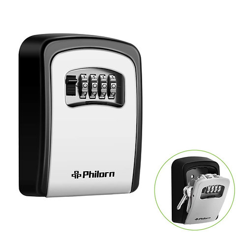 PHILORN Key Lock Box, 4-Digit Combination Lockbox