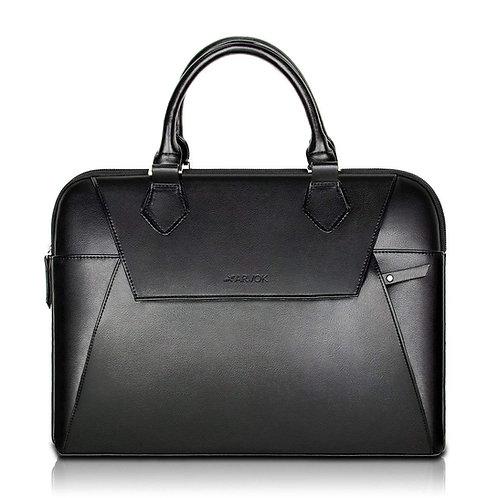 Arvok PU Leather Laptop Bag with Handle & Zipper Pocket
