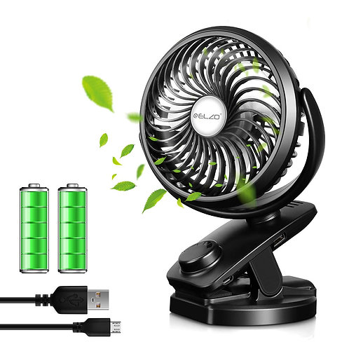 ELZO USB Fan, Hand Fan & Rechargeable 4800mAh Power Bank 2 in 1