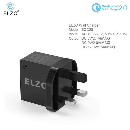 Elzo Quick Charge 2.0 Wall Charger (UK)