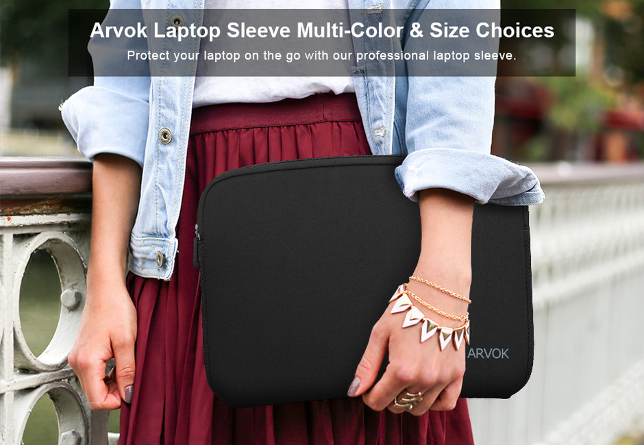 Arvok Laptop Sleeve Multi-Color & Size Choices Case
