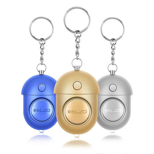 ELZO Personal Alarm, Security Alarms Keychain with LED Flashlight