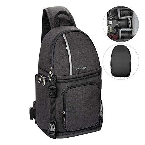 ARVOK Camera Shoulder Bag, Waterproof Camera Backpack with Rain Cover & tripod