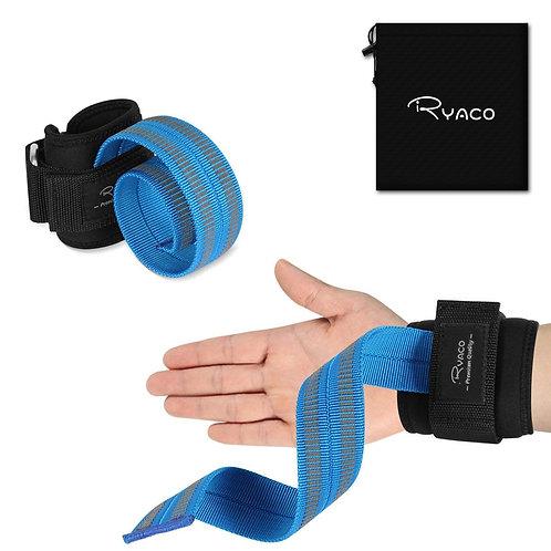 Ryaco Lifting Straps Neoprene Padded Wrist Wraps for Hand Bar
