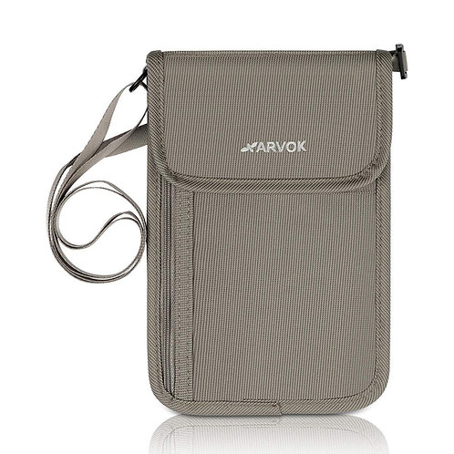 Arvok Premium Neck Stash Wallet RFID Blocking Travel Passport Holder