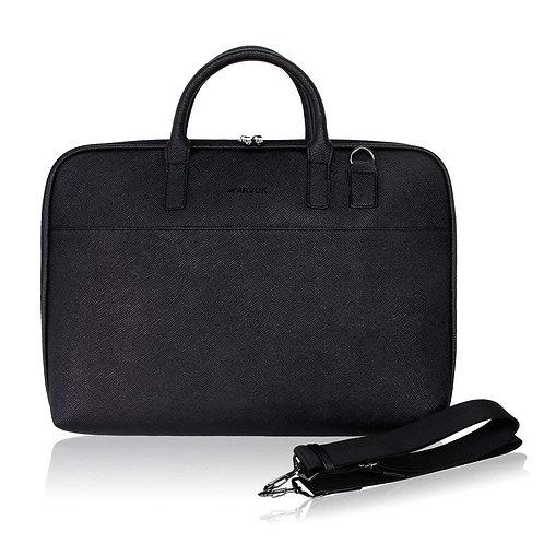 Arvok PU Leather Laptop Bag with Handle & Shoulder Strap