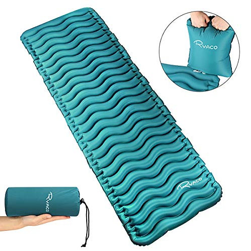RYACO Inflatable Sleeping Pad with Air Bag, Ultralight Camping mat Portable Bed