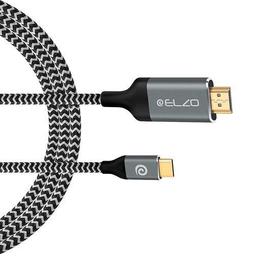 ELZO USB 3.1 Type C Male (Thunderbolt 3 Compatible) to HDMI Cable