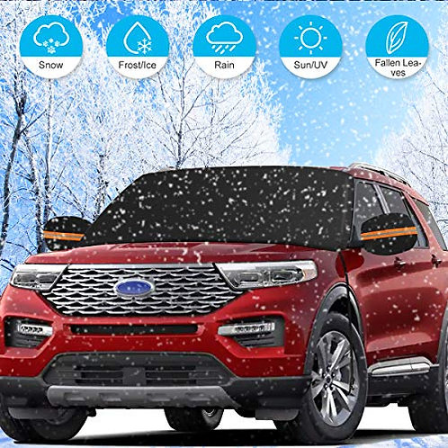 ELZO Windshield Snow Cover with Side Mirror Covers for Trucks SUV Cars