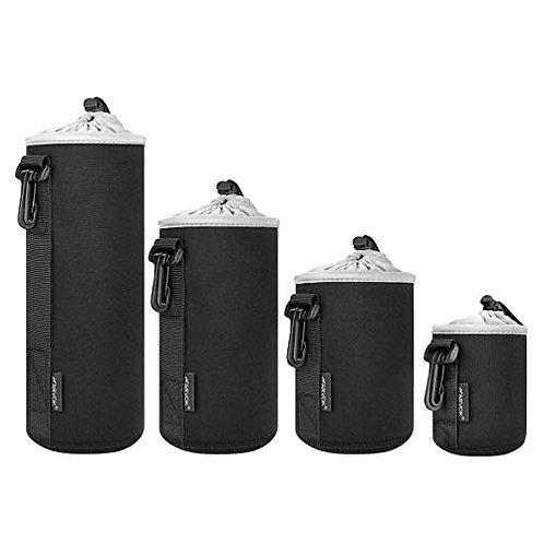 Arvok Lens Pouch Set, Water Resistant Protective Lens Cases