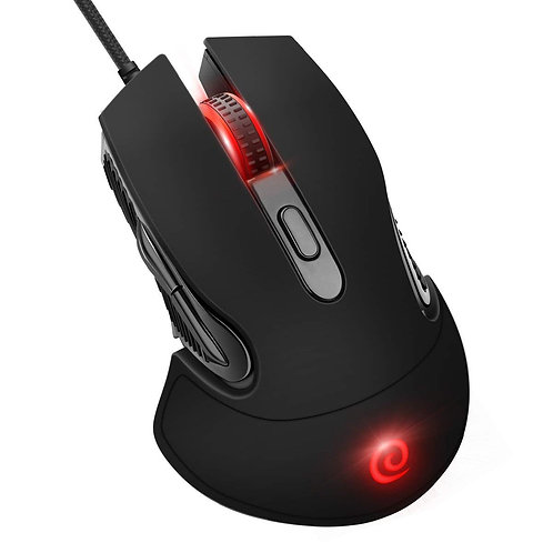 ELZO Gaming Mouse Wired - 6 Adjustable DPI Levels
