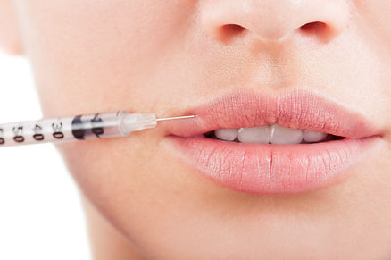 Closeup of beautiful mouth and lips with