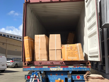a number of products arrived in Honolulu from Japan.