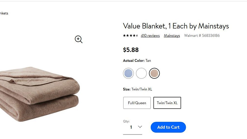 Buy a Blanket for winter!