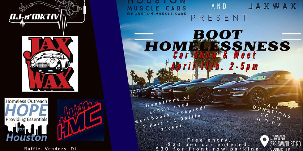 Boot Homelessness Car Show and Meet