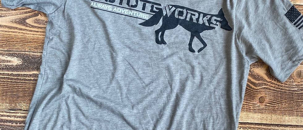 Coyote Works Logo Tee Ash by Lolo Overland
