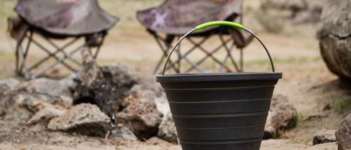 Collapsible Silicone Bucket (10L) by Ironman 4x4