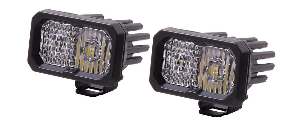 "Stage Series2"" Sport SAE/DOT White LED Pod ( Pair) by Diode Dynamics"