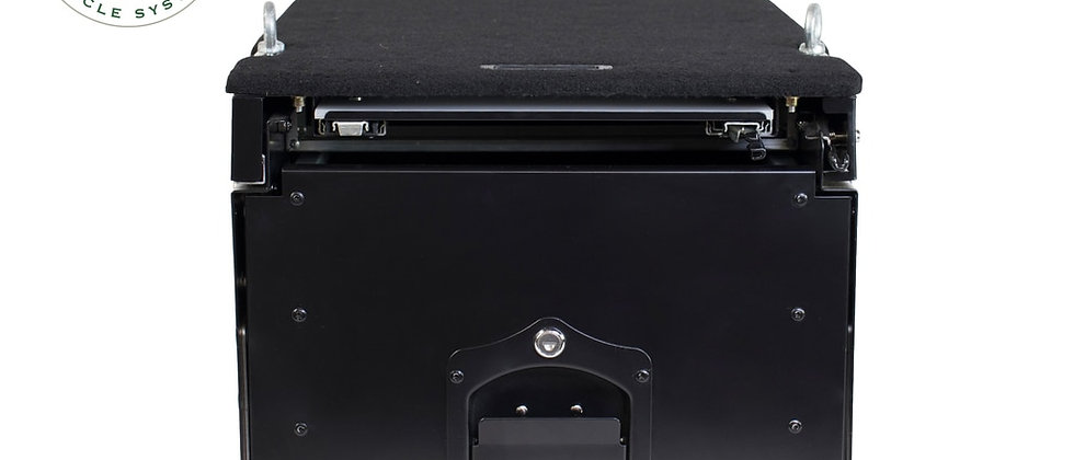 Universal Cargo Box w/ Slide Out Drawer & Work Station • Black Powder Coat