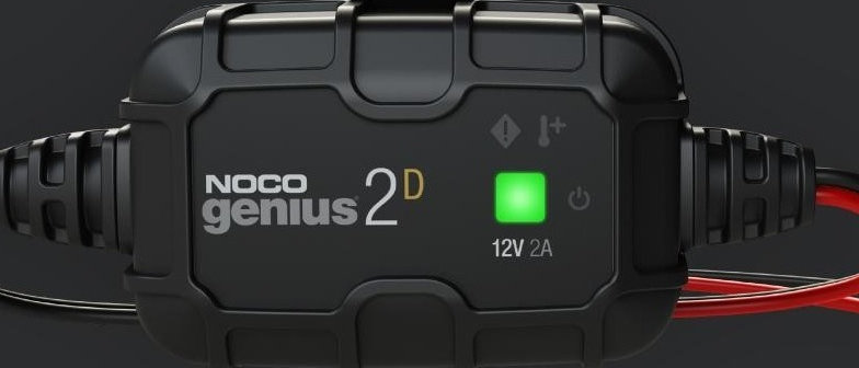 GENIUS2D  12V 2A Direct-Mount Battery Charger and Maintainer BY NOCO