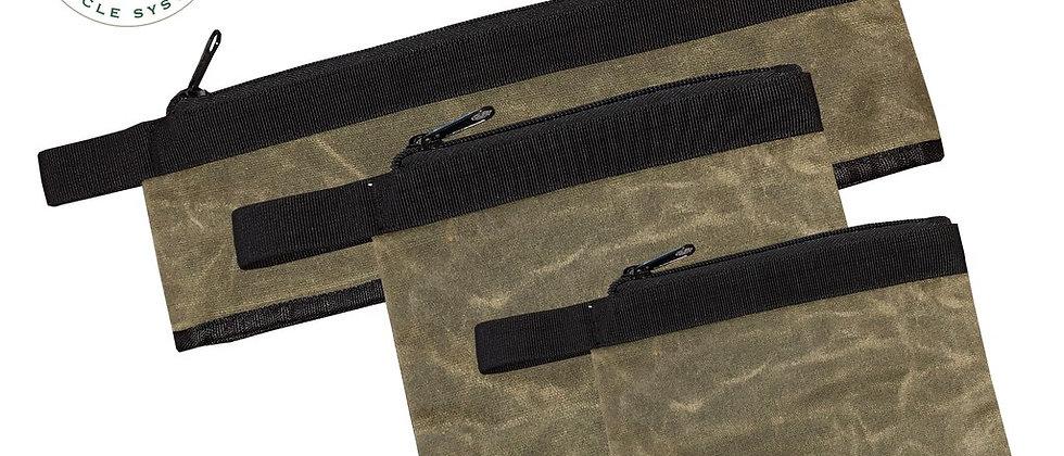 Medium #12 Waxed Canvas Bags • Set of 3