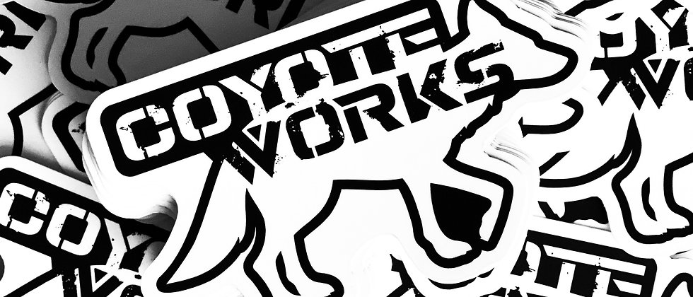Coyote Works Logo Sticker by Lolo Overland