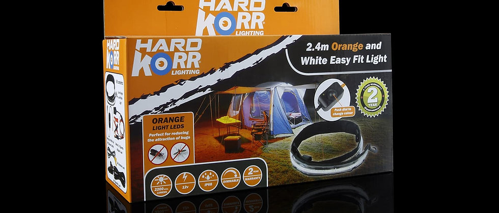 8' Orange/White LED Light Strip by HardKorr USA