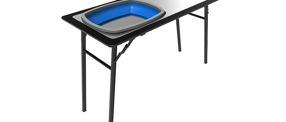 Pro Stainless Steel Prep Table w/ Foldaway Basin