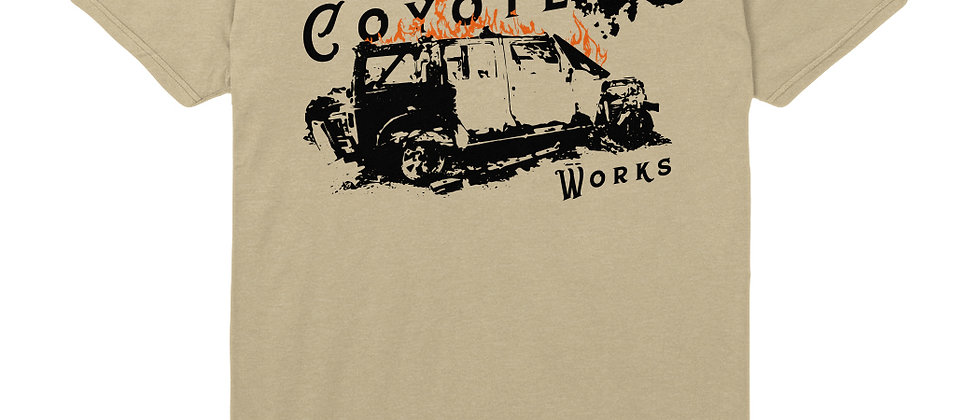 Limited Edition Coyote Works Jeep Fire Tee by Lolo