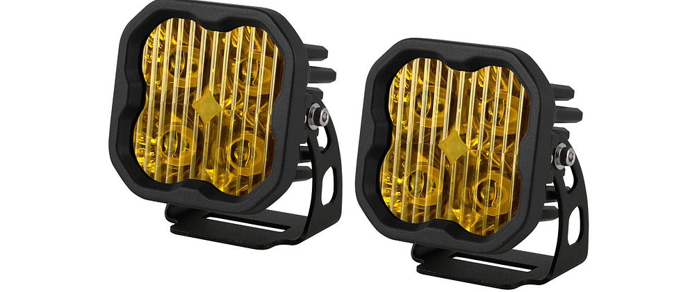 "Stage Series 3"" Pro SAE/DOT Yellow LED Pod ( Pair) by Diode Dynamics"