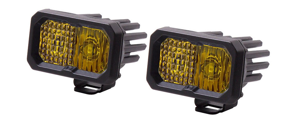 """Stage Series 2"""" Pro SAE/DOT Amber LED Pod (Pair) by Diode Dynamics"""