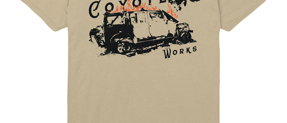 Limited Edition Coyote Works Jeep Fire T-Shirt by Lolo