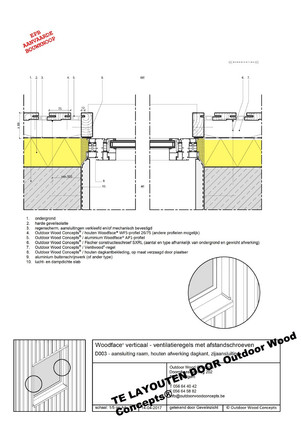 Technische details voor Outdoor Wood Concepts®