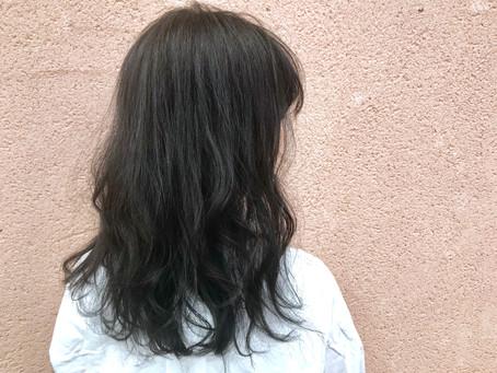 オシャレに黒髪(・∀・)